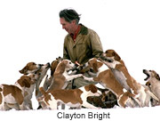 Clayton Bright and his beagles