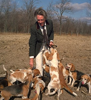 Clayton Bright and his hounds